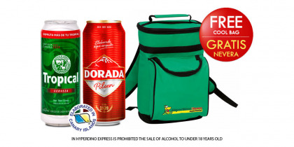 TROPICAL OR DORADA BEER 33 CL, PACK 12 CANS
