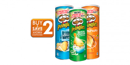 PRINGLES VARIOUS FLAVOURS 164 GR
